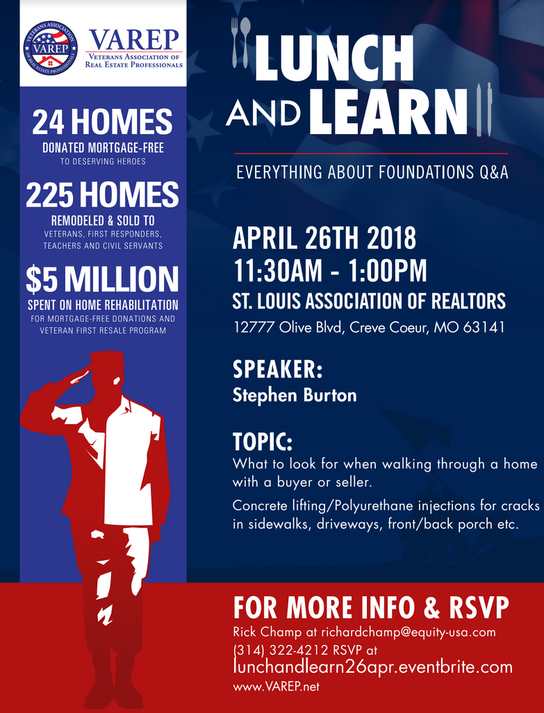 Veteran lunch and learn Waterproof Solutions Apr26 2018