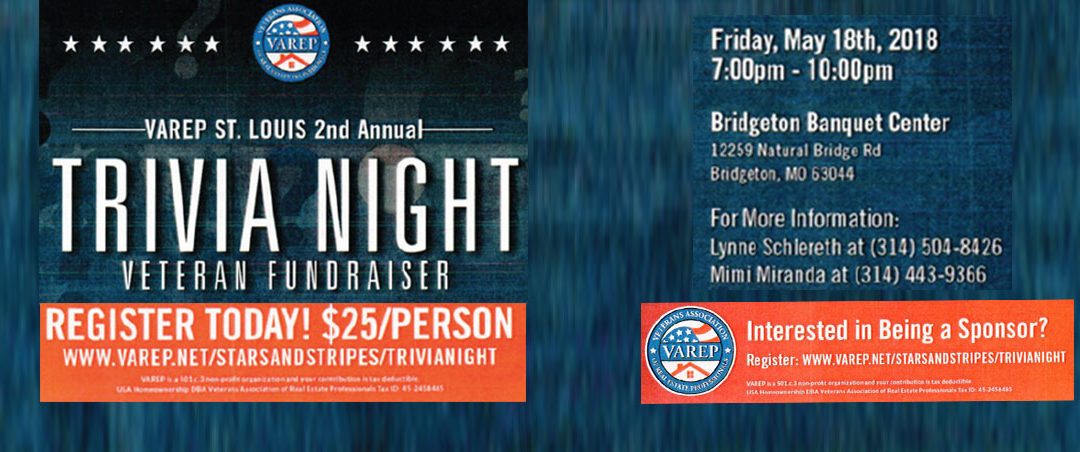 VAREP Veteran Fundraiser Trivia Night – May 18