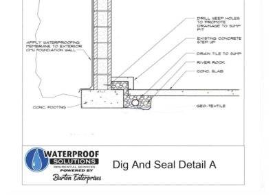 Seal - Dig and Seal Detail A