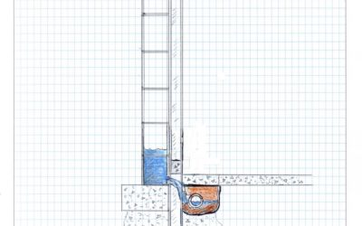 Waterproof St Louis Home Foundation Repair Education Block Wall Soldier Beam with Int WPS