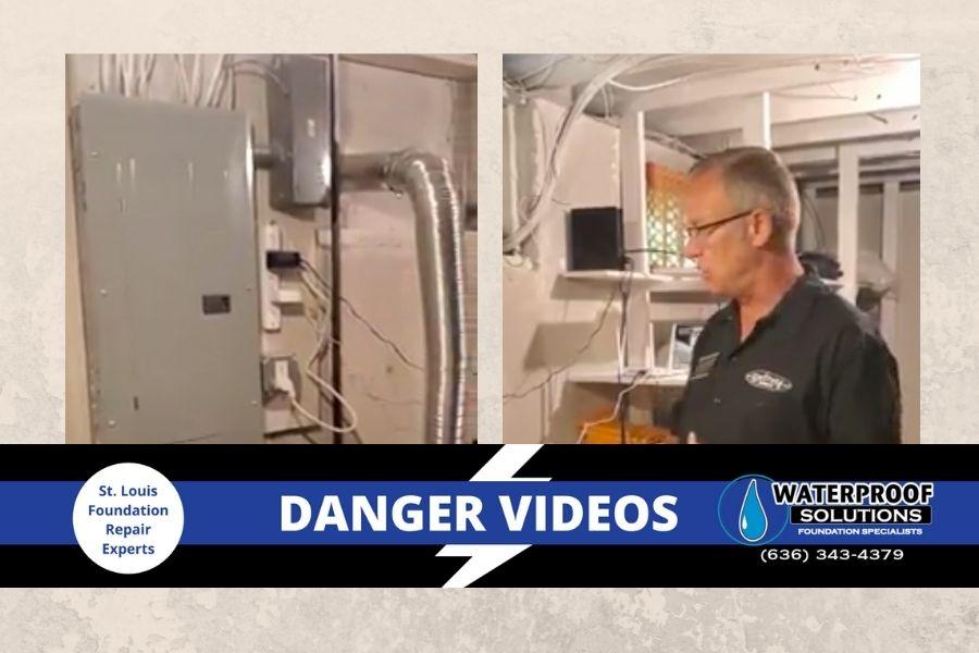 Waterproof Solutions St. Louis Danger Videos Crack Behind Electrical Box